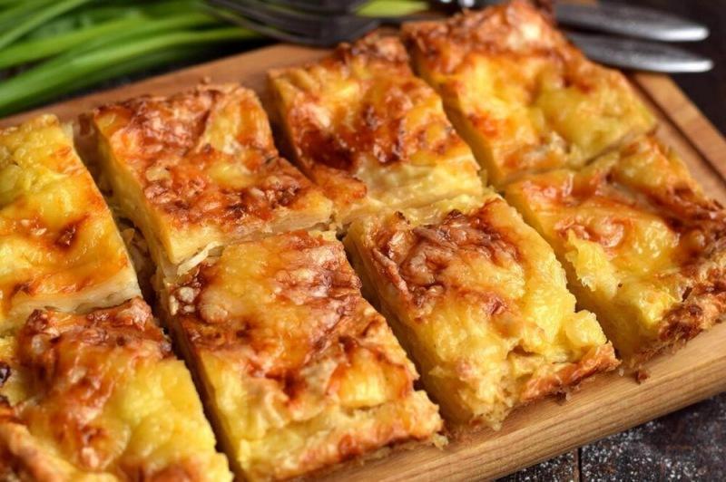 Пирог с сыром из лаваша