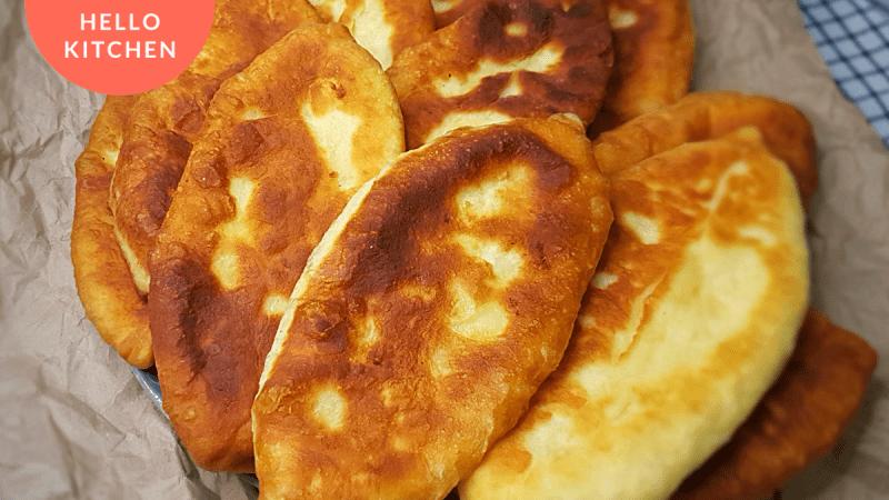 Пирожки с Картошкой и Сыром//Тесто Как Пух.