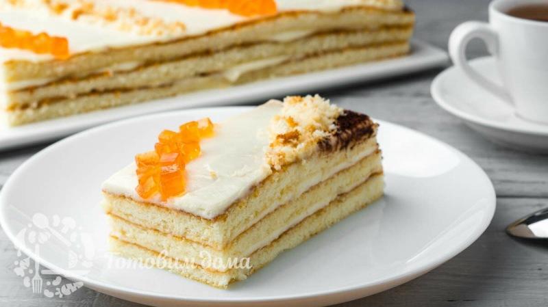 30 минут и торт на столе!Быстрый торт 5 ложек!