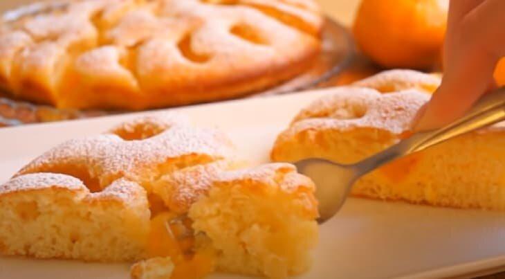 Бесподобный пирог с мандаринами