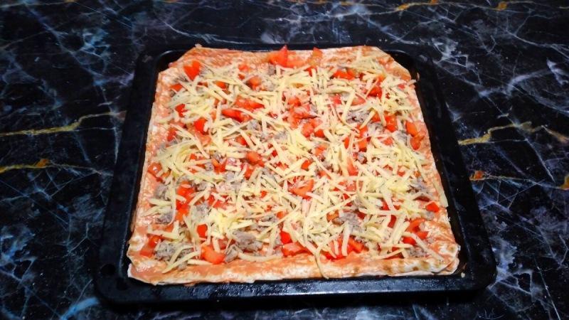 Быстрая пицца на лаваше. Обалденно вкусно и супер просто