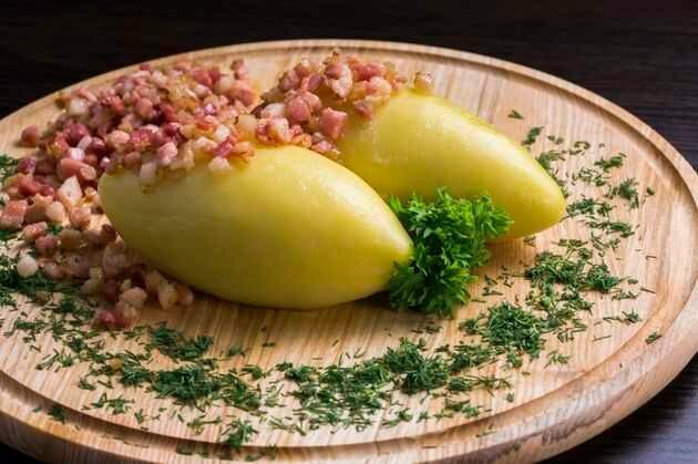 Цеппелинай – фаршированный картофель