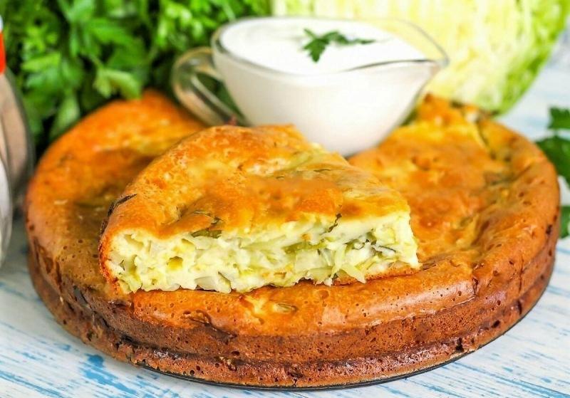 Как вкусно и быстро я готовлю заливной пирог из капусты