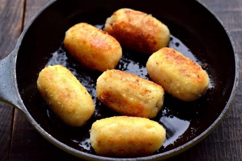 Картофельные зразы с фаршем и грибами