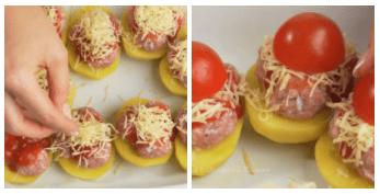 Картошка с фрикадельками. Красиво и празднично!
