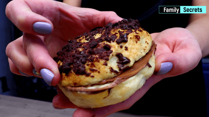 На завтрак делаю бутерброды с бейглами. Семья довольна.
