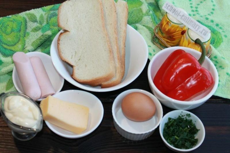 Простые горячие бутерброды в духовке