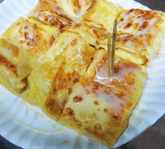 Тайские блинчики (лепешки) Роти с бананом