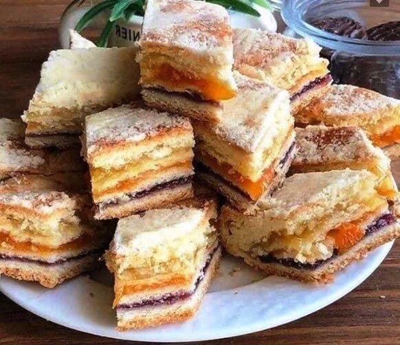 Трёхслойный пирог, фирменный десерт моей бабушки