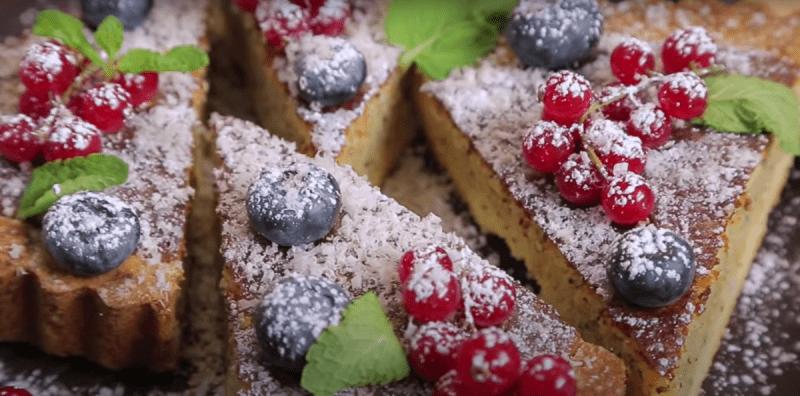 Вкусный пирог на праздничный стол. Миндальный тарт.