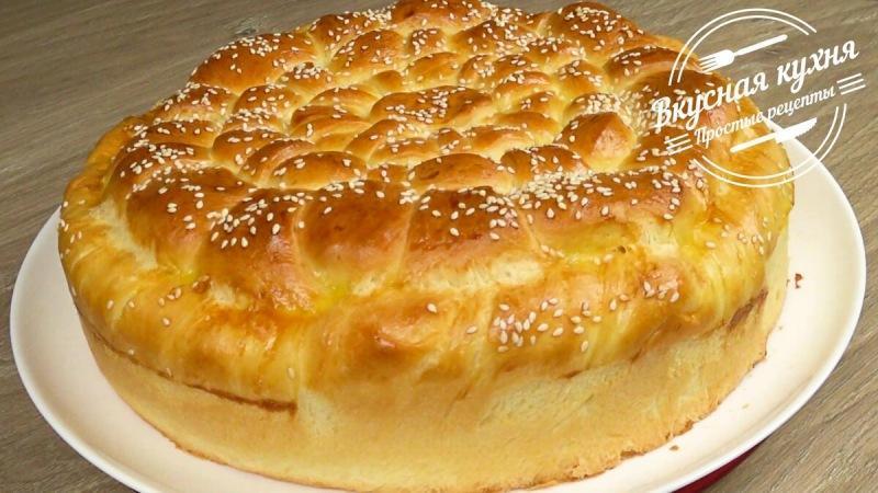 Дрожжевой пирог с зеленым луком и яйцом (пышный красавец)