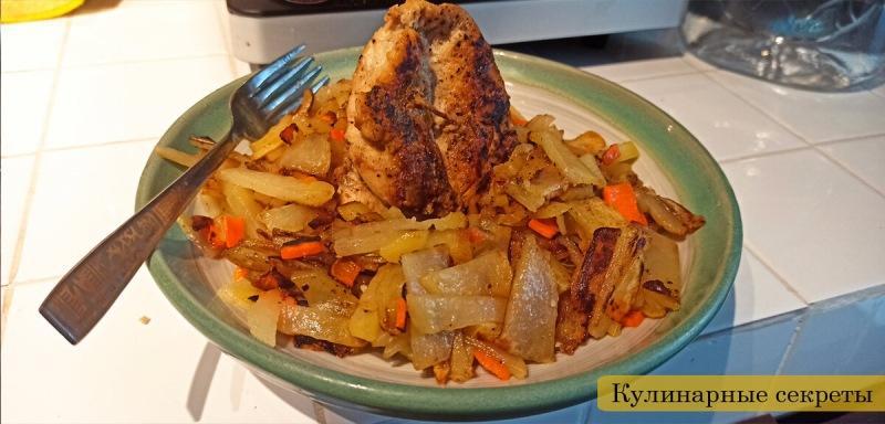 Готовлю жаренную картошечку!