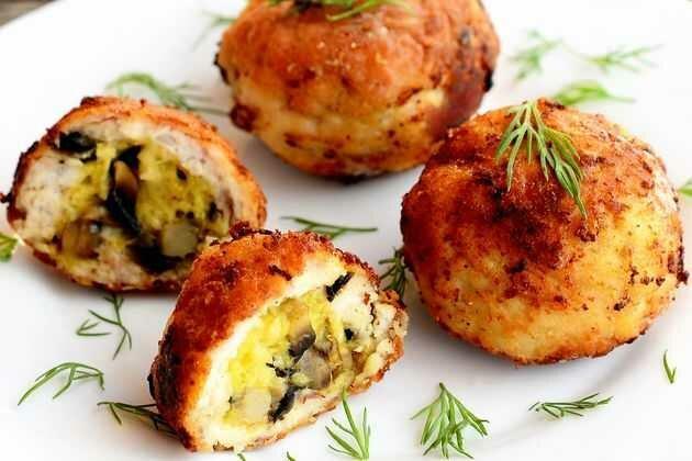 Котлеты-жульены с грибами и сыром