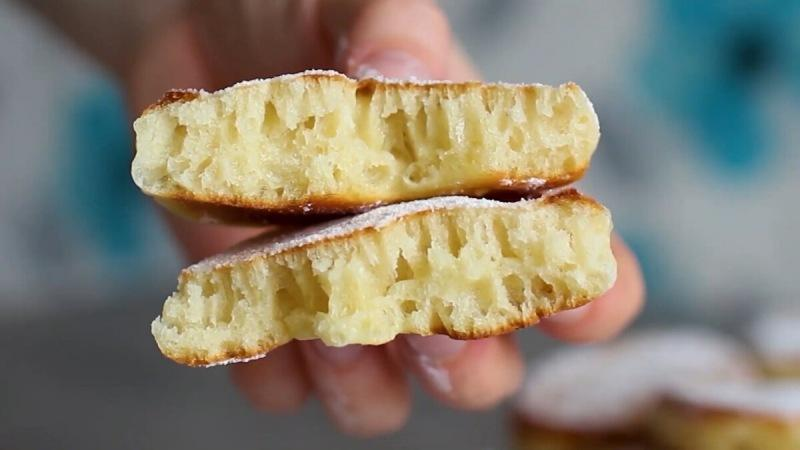 Очень пышные оладьи (как пончики)