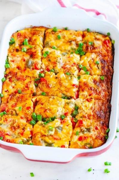 Быстрый ужин из духовки - заливной пирог с мясом