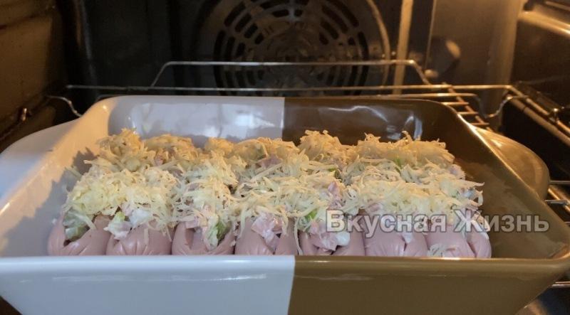 Любимый завтрак и перекус моих детей: фаршированные сосиски