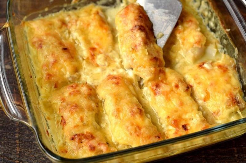 Рыбное филе с сыром в духовке