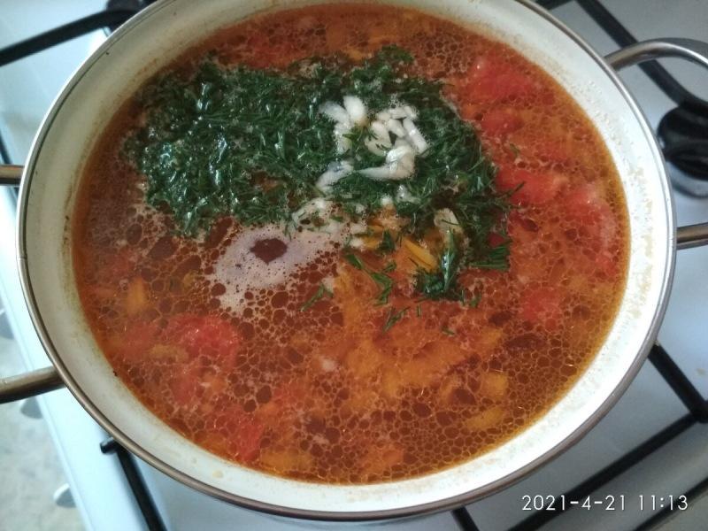 Суп, с мясом и рисом получается отменный.