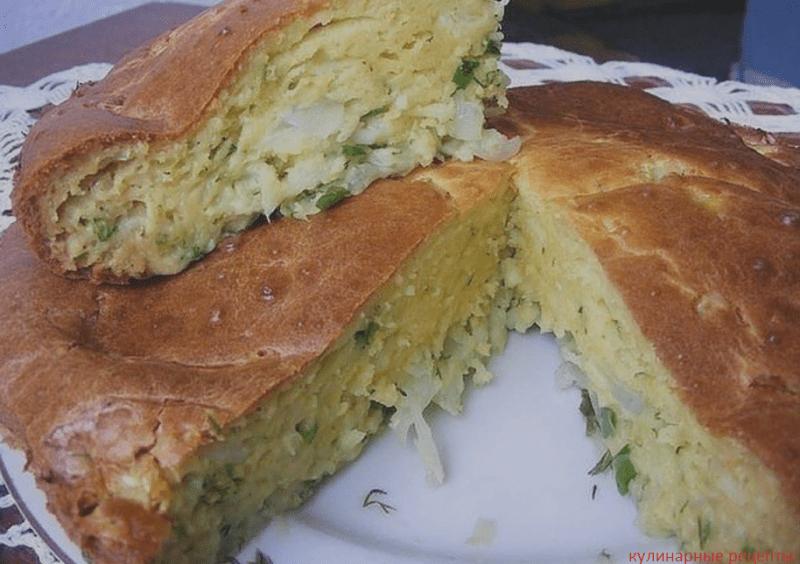 Капустник на сметане – простой и вкусный пирог.