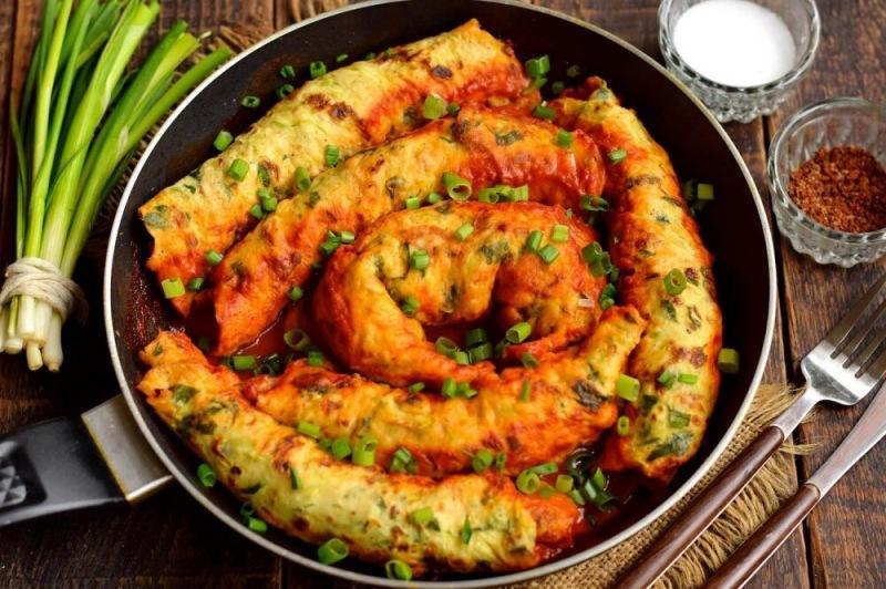 Блюдо из кабачков и фарша