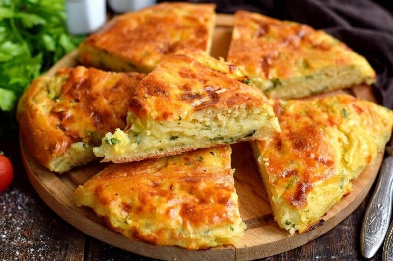 Пирог на кефире с картофелем и сыром