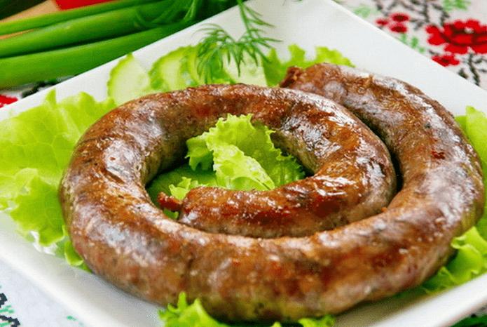 Домашняя колбаса в духовке по рецепту бабушки