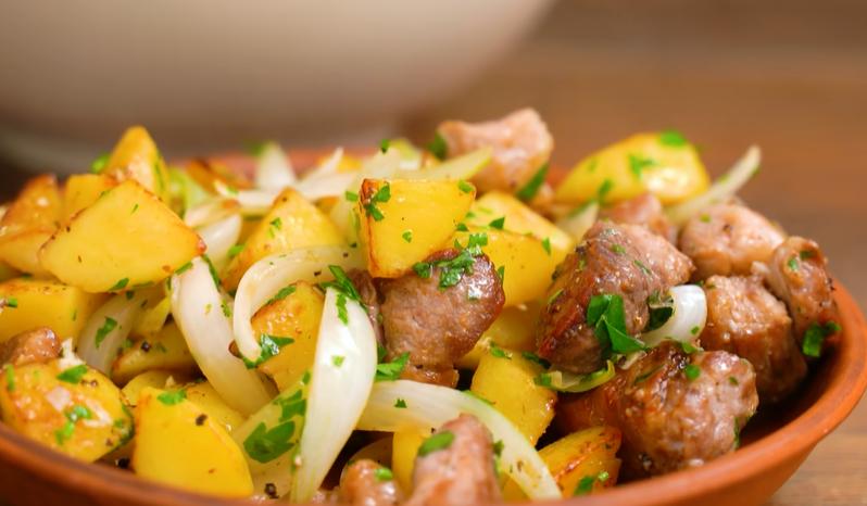 Мясо с картошкой и шашлык не нужен