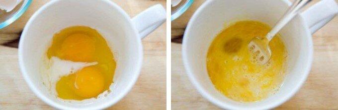 Очень простой и быстрый рецепт Омлета в кружке