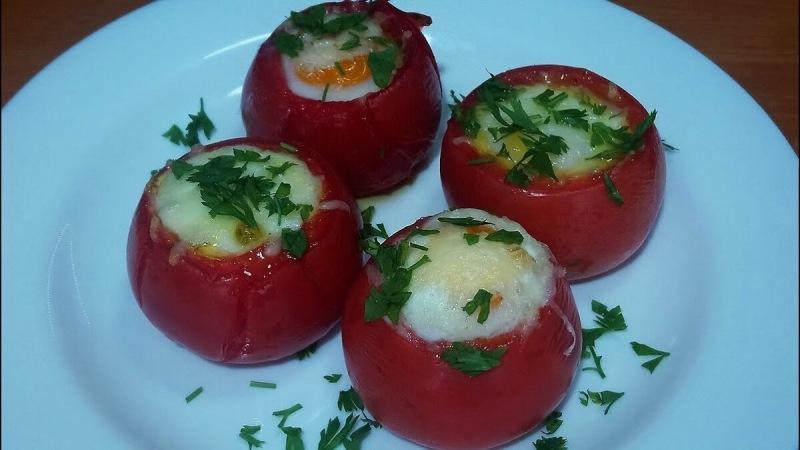 Яйцо в помидоре, французское