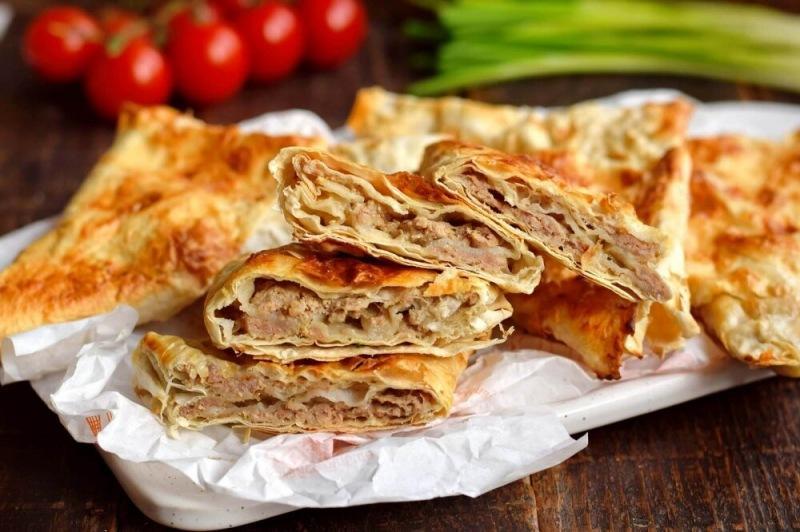 Пирожки из лаваша с мясом в духовке
