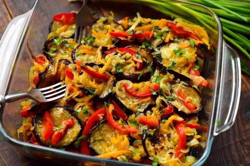 Закуска из баклажанов и овощей