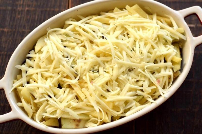 Флан из баклажанов и картофеля